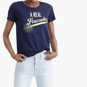 """J. Crew """"A Real Firecracker"""" Collection T-Shirt"""